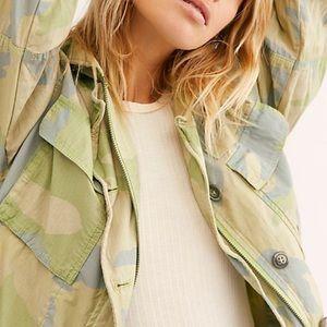 New Free People camo print jacket - XS